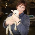 Svana with one of our lamb