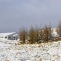 Our guesthouse during winter